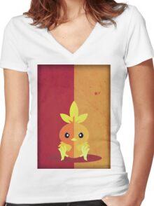Pokemon - Torchic #255 Women's Fitted V-Neck T-Shirt