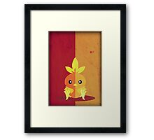 Pokemon - Torchic #255 Framed Print