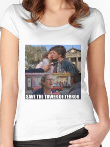 Save The Tower of Terror - Back To The Future Women's Fitted Scoop T-Shirt