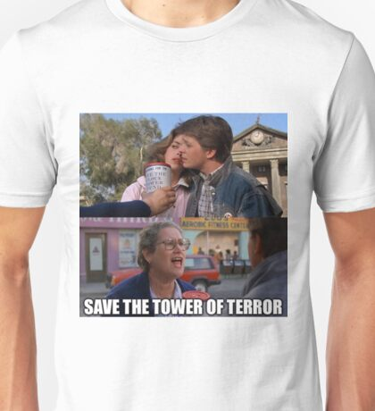 Save The Tower of Terror - Back To The Future Unisex T-Shirt