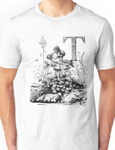 Garden Alphabet Letter T Unisex T-Shirt