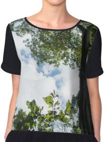 Shadow Trees Chiffon Top
