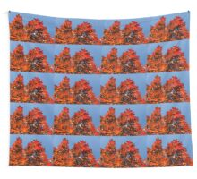 More Than Fifty Shades Of Red - Glossy Leathery Oak Leaves In The Sunshine - Upward Wall Tapestry