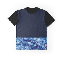 Dark Blue Abstract Graphic T-Shirt