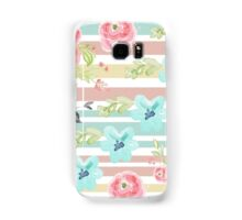 Shabby chic,water color,pastels,stripes,vintage,girly,cute Samsung Galaxy Case/Skin
