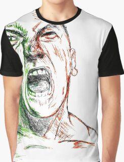 Jimmie Saffar Drawn as The Incredible Hulk Graphic T-Shirt
