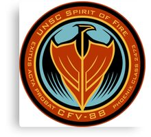 UNSC Spirit of Fire Insignia Canvas Print