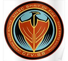 UNSC Spirit of Fire Insignia Poster