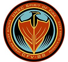 UNSC Spirit of Fire Insignia Photographic Print