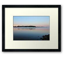 Sunrise on the Lake Framed Print