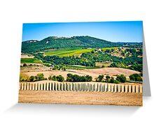 Tuscany landscape 1. Greeting Card