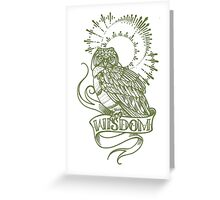 wisdom owl tattoo shirt Greeting Card