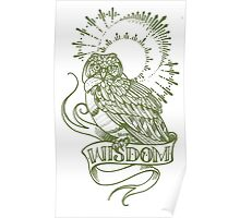 wisdom owl tattoo shirt Poster