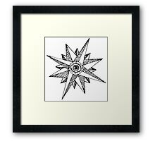 Seeing Compass Framed Print