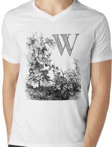 Garden Alphabet Letter W Mens V-Neck T-Shirt
