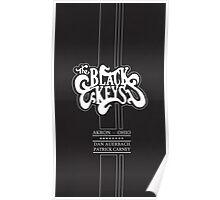 The Black Keys Black texture Logo Tall Poster