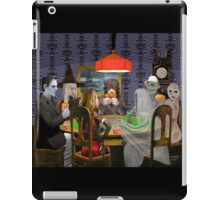 Classic Monsters Not Playing Poker - Playing Halloween Game: Halloweeja iPad Case/Skin