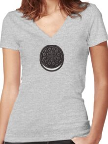 Oreo Cookie Women's Fitted V-Neck T-Shirt