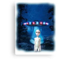 Forest UFO Close Encounter Canvas Print