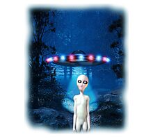 Forest UFO Close Encounter Photographic Print