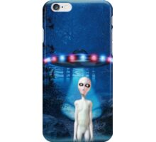 Forest UFO Close Encounter iPhone Case/Skin