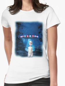 Forest UFO Close Encounter Womens Fitted T-Shirt