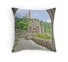 Gateway to the Tsarevets in Veliko Tarnovo Throw Pillow