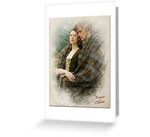 Outlander/Jamie & Claire sketch  Greeting Card
