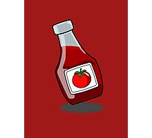 Cartoon Ketchup Bottle Photographic Print