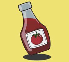Cartoon Ketchup Bottle Kids Tee