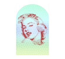 MARILYN MONROE ON STAINEDGLASS by rolfing