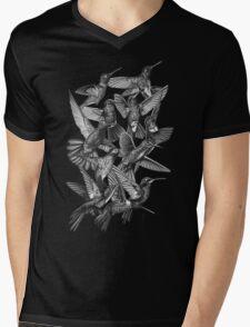 Hummingbird Dance in Sharpie (Grayscale Edition) Mens V-Neck T-Shirt
