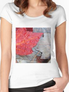 Red Sunset Maple Women's Fitted Scoop T-Shirt