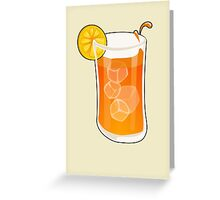 Cartoon Ice tea Greeting Card