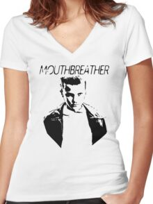 Mouthbreather  Women's Fitted V-Neck T-Shirt