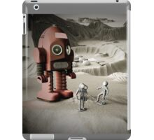Thunder Robot and Toy Spacemen Retro Styled iPad Case/Skin