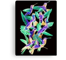 Hummingbird Dance in Sharpie (Inversion Edition) Canvas Print