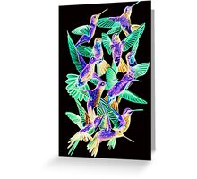 Hummingbird Dance in Sharpie (Inversion Edition) Greeting Card