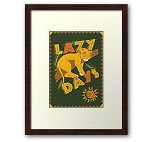Simba - Lazy Days Framed Print