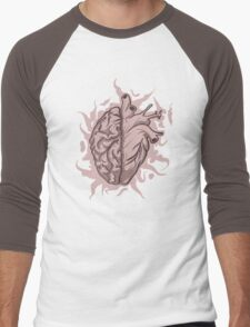 Brainheart Logo Men's Baseball ¾ T-Shirt