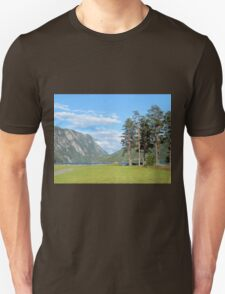 Pine Trees by the Fjord Unisex T-Shirt