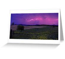 En~Lightning Landscape Greeting Card