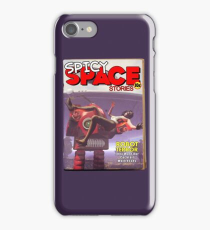 Spicy Space Stories Fake Pulp Cover iPhone Case/Skin