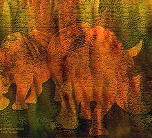 Moods Of Africa - Rhinos by Carol  Cavalaris