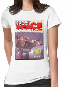 Spicy Space Stories Fake Pulp Cover Womens Fitted T-Shirt