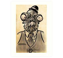 Horrible Fish Man Art Print