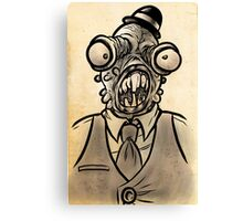 Horrible Fish Man Canvas Print