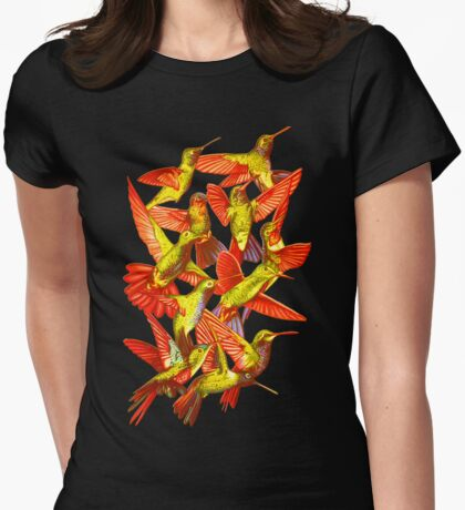 Hummingbird Dance in Sharpie (FireBird Edition) Womens Fitted T-Shirt