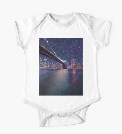 Spacey Manhattan Skyline One Piece - Short Sleeve