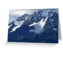 Blue Cold Glacier Greeting Card